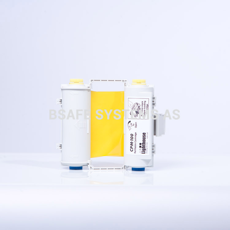 Fargebånd gul med holder CPM-100 : CPMR45-RC : Bsafe Systems AS
