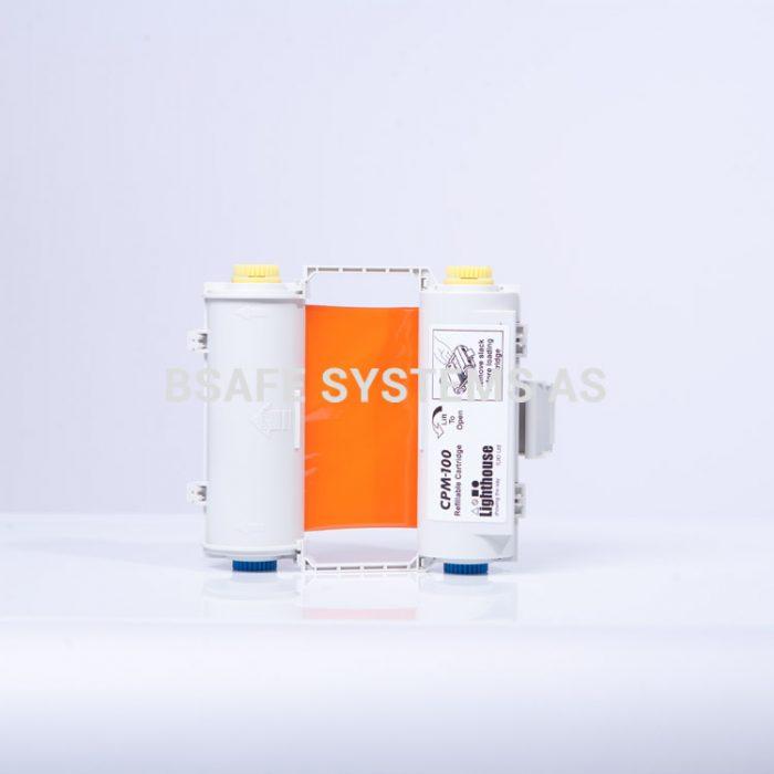 Fargebånd med holder CPM-100 orange : CPMR46-RC : Bsafe Systems AS