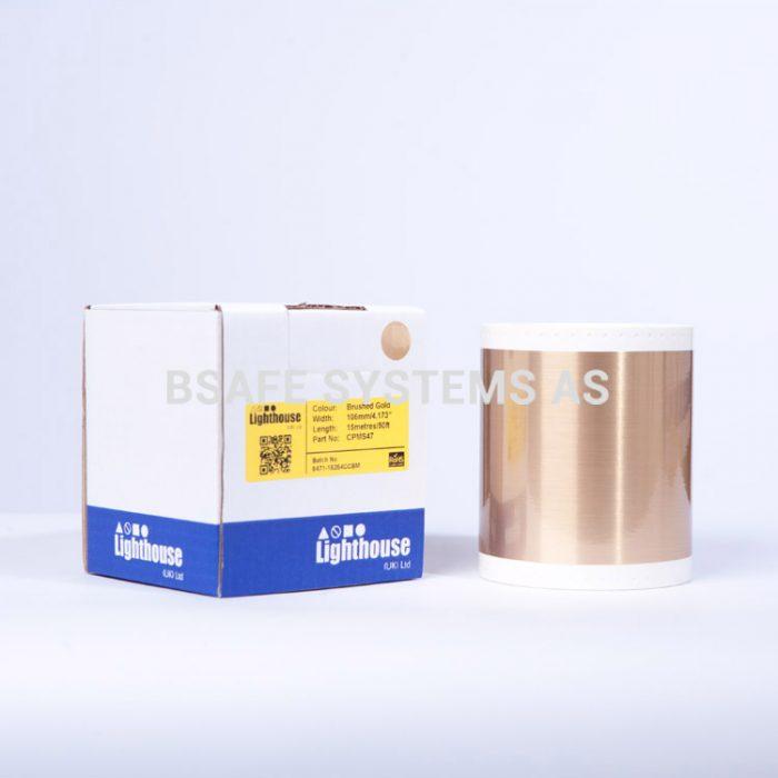 Børstet gull CPM-100 spesialfolie CPMS47 : Bsafe Systems AS