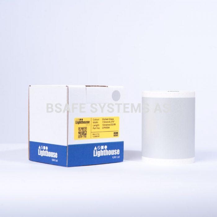 Laminat glasseffekt CPM-100 spesialfolie CPMS94 : Bsafe Systems AS