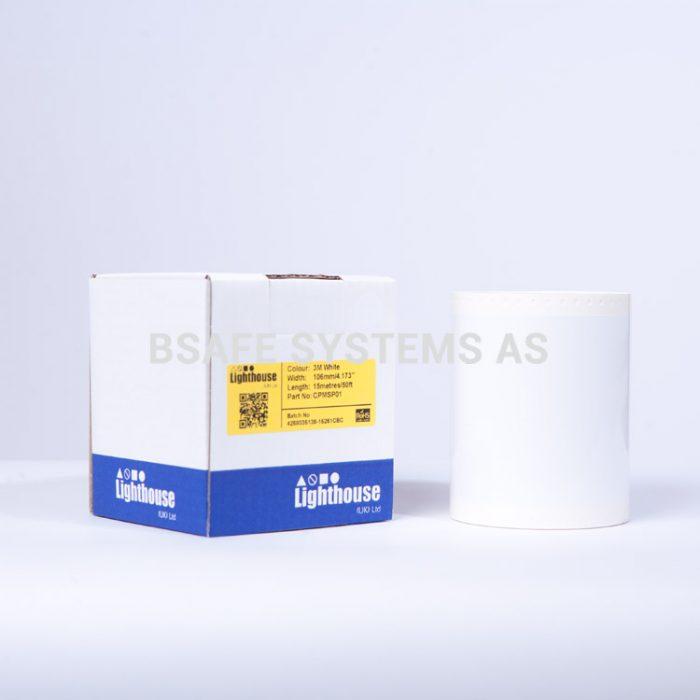 Polyesterfolie CPM-100 Hvit CPMSP01 : Bsafe Systems AS