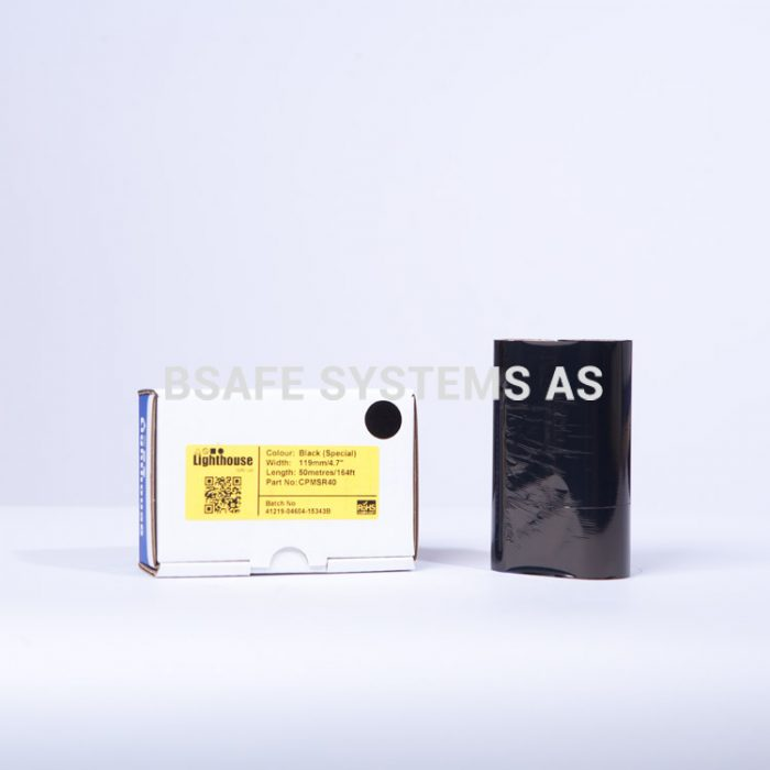 Fargebånd Refill CPM-100 Polyester sort : Bsafe Systems AS