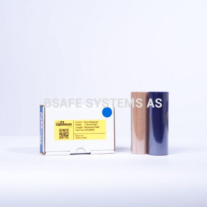 Fargebånd refill CPM-100 polyester blå : Bsafe Systems AS