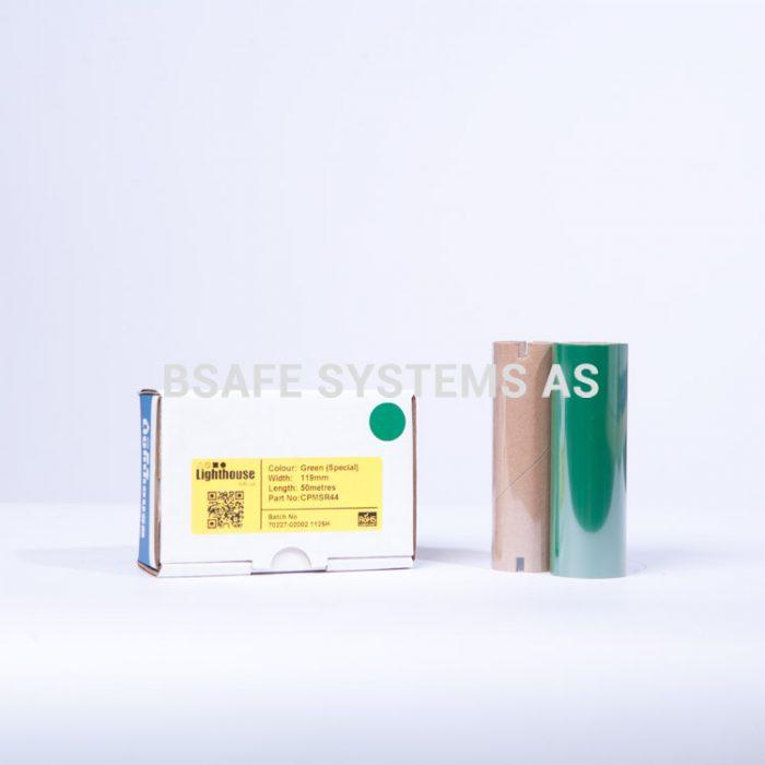 Fargebånd refill CPM-100 polyester grønn : Bsafe Systems AS