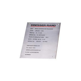 Rustfritt stålskilt lasergravert : 451001 : Bsafe Systems AS