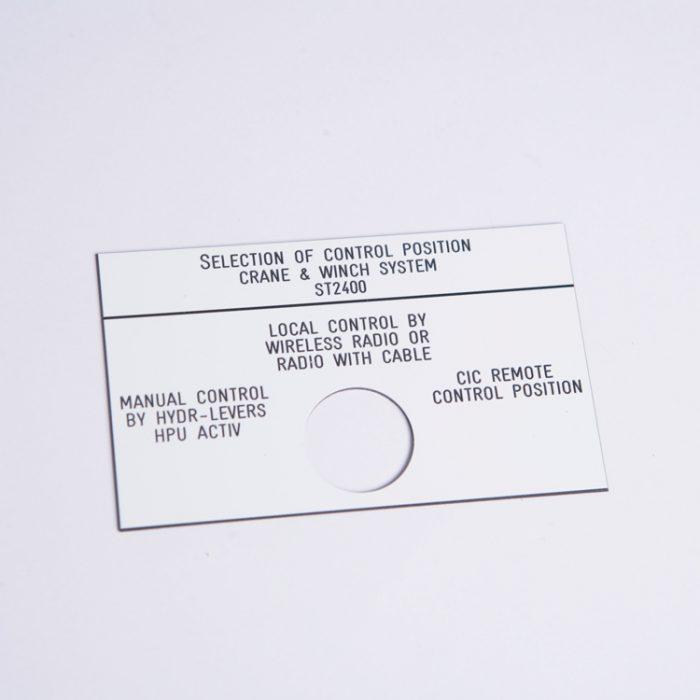 Merking : gravert skilt : Bsafe Systems AS