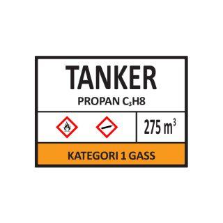 Tankskilt 400x300mm : Bsafe Systems AS
