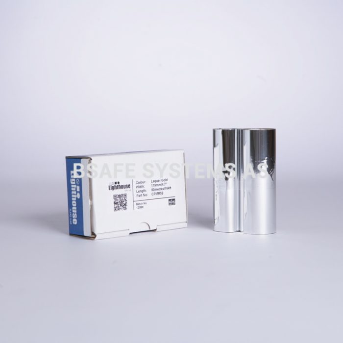 Fargebånd gull metallic refill CPM-100 : CPMR52 : Bsafe Systems AS