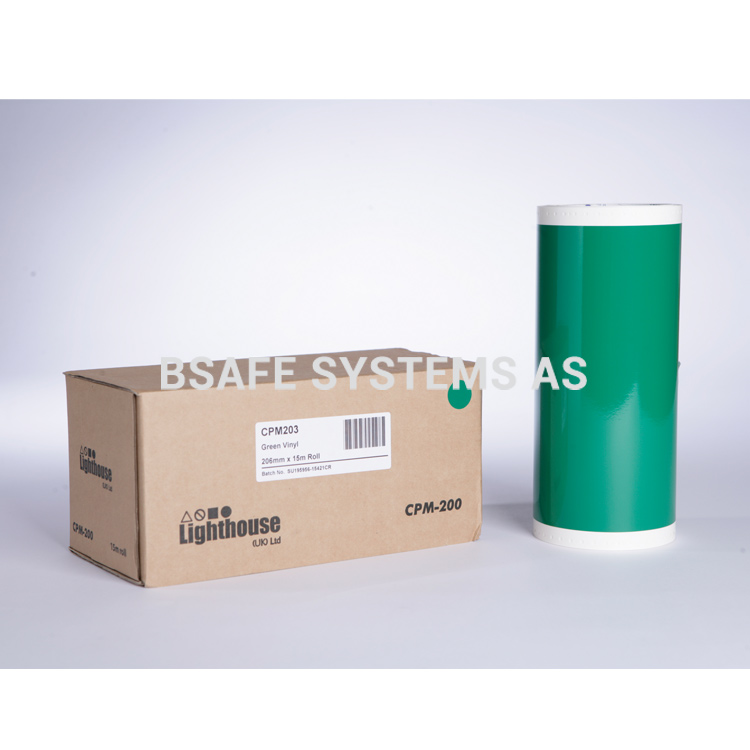 Vinylfolie CPM-200 grønn : Bsafe Systems AS