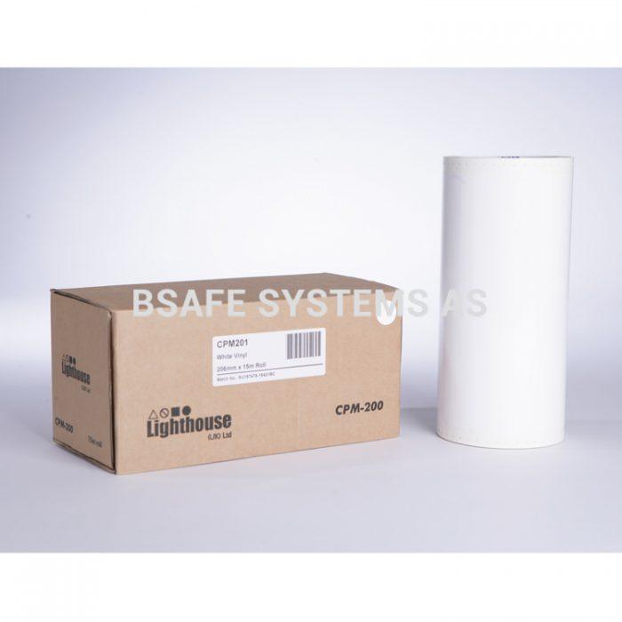 Vinylfolie CPM-200 hvit : CPM201 : Bsafe Systems AS