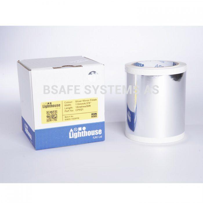 Polyesterfolie CPM-100 Speilsølv CPM21 : Bsafe Systems AS