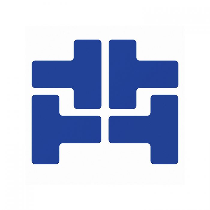 Gulvmerking : Toughstripe T blå 104438 : Bsafe Systems AS
