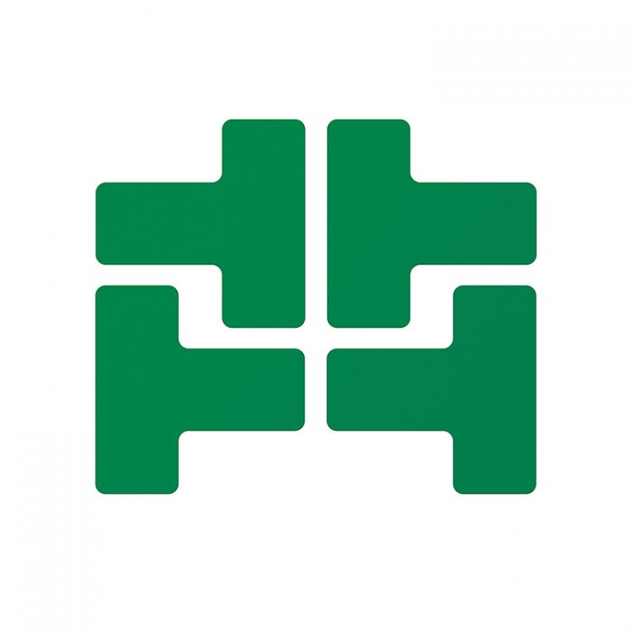Gulvmerking : Toughstripe T grønn 104437 : Bsafe Systems AS