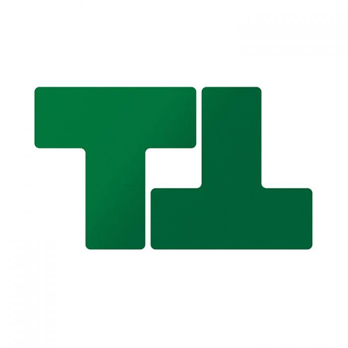 Gulvmerking : Toughstripe T grønn 104449 : Bsafe Systems AS