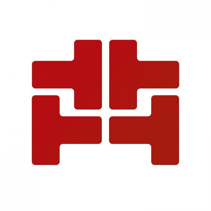 Gulvmerking : Toughstripe T rød 104436 : Bsafe Systems AS