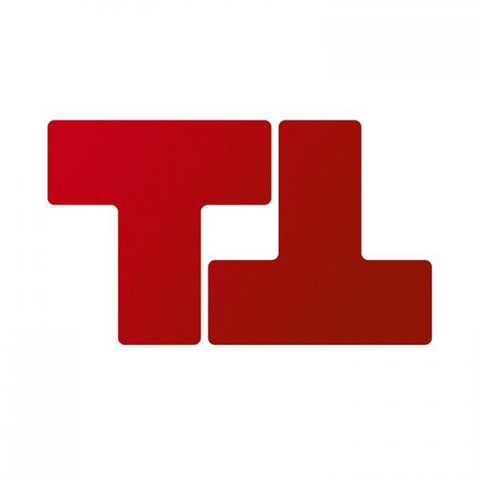 Gulvmerking : Toughstripe T rød 104448 : Bsafe Systems AS