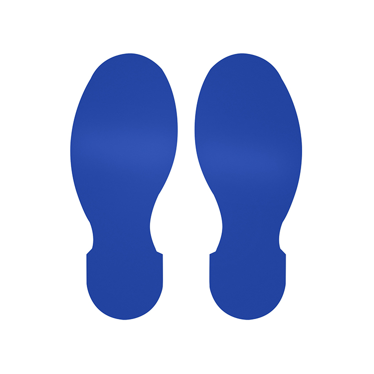 Gulvmerking : Toughstripe fotavtrykk blå 104408 : Bsafe Systems AS