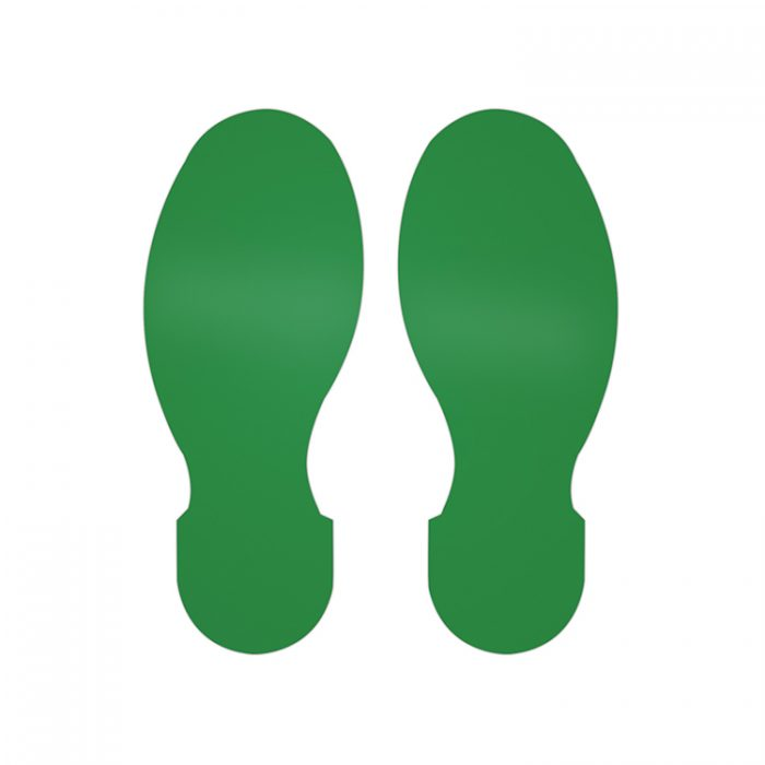 Gulvmerking : Toughstripe fotavtrykk grønn 104407 : Bsafe Systems AS