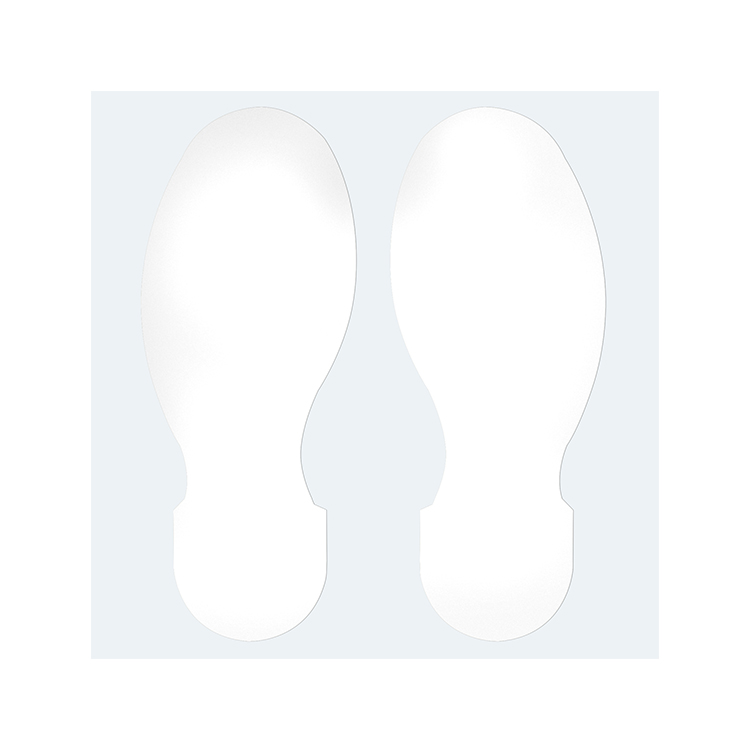 Gulvmerking : Toughstripe fotavtrykk hvit 104411 : Bsafe Systems AS