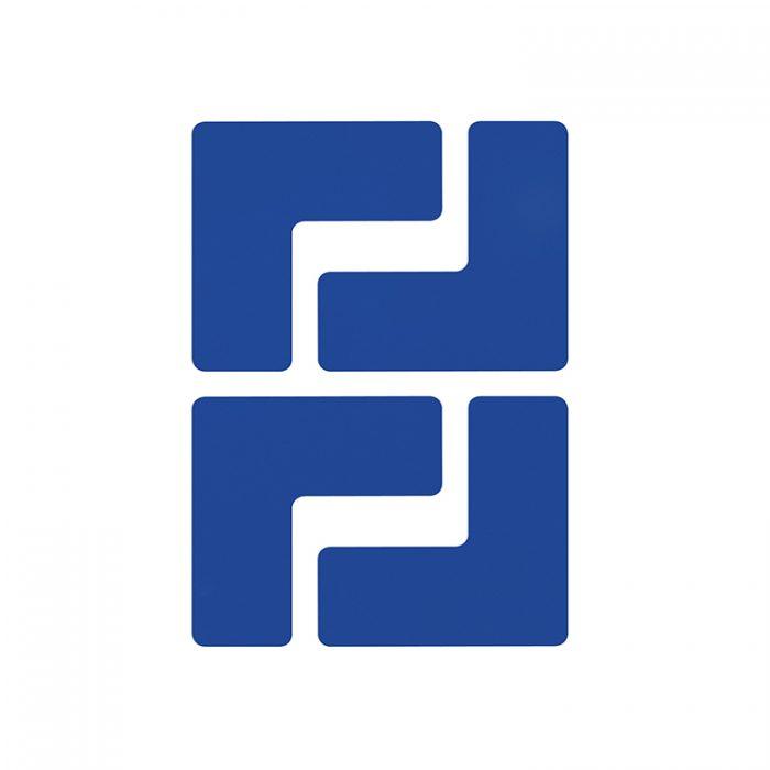 Gulvmerking : Toughstripe hjørnemerke L blå 104432 : Bsafe Systems AS