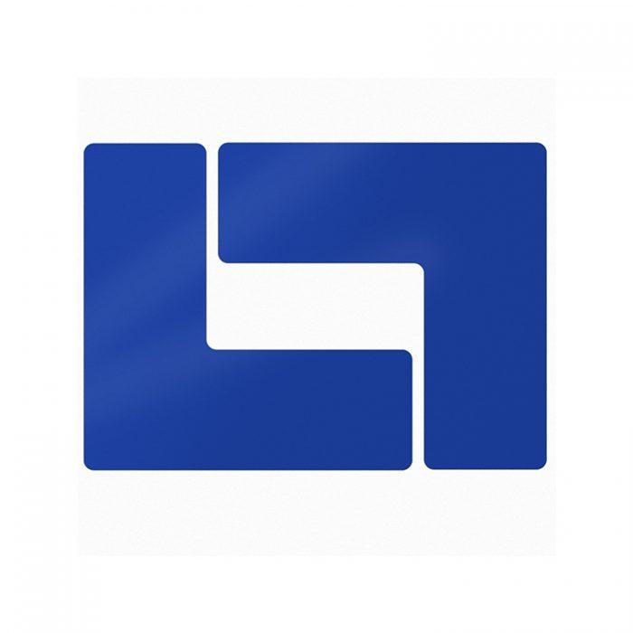 Gulvmerking : Toughstripe hjørnemerke L blå 104444 : Bsafe Systems AS