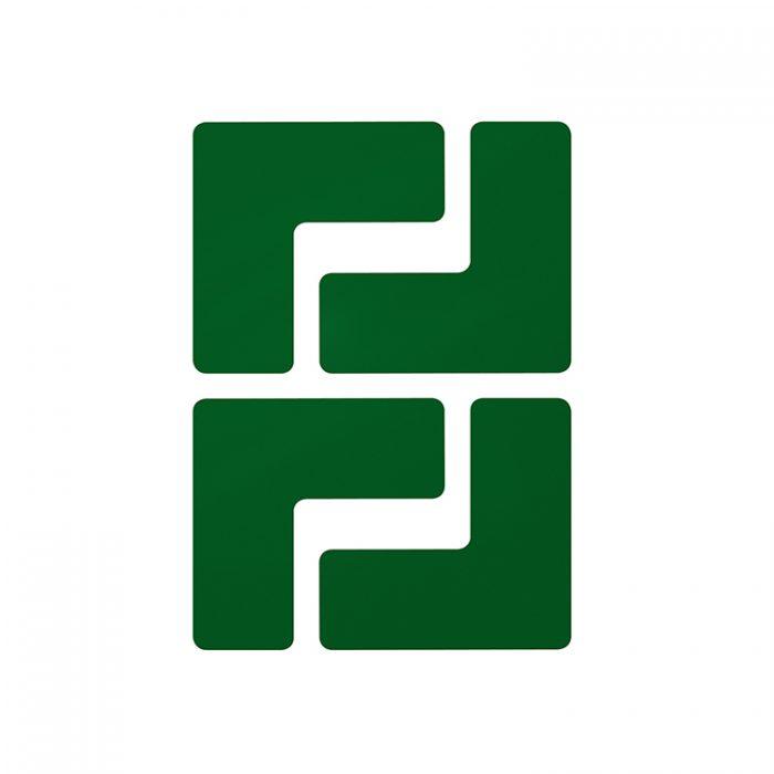 Gulvmerking : Toughstripe hjørnemerke L grønn 104431 : Bsafe Systems AS