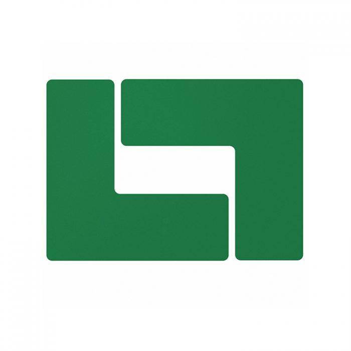 Gulvmerking : Toughstripe hjørnemerke L grønn 104443 : Bsafe Systems AS