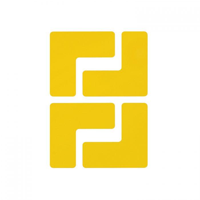 Gulvmerking : Toughstripe hjørnemerke L gul 104433 : Bsafe Systems AS