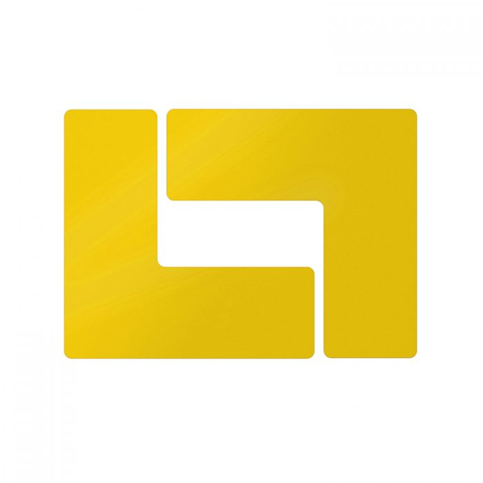 Gulvmerking : Toughstripe hjørnemerke L gul 104445 : Bsafe Systems AS