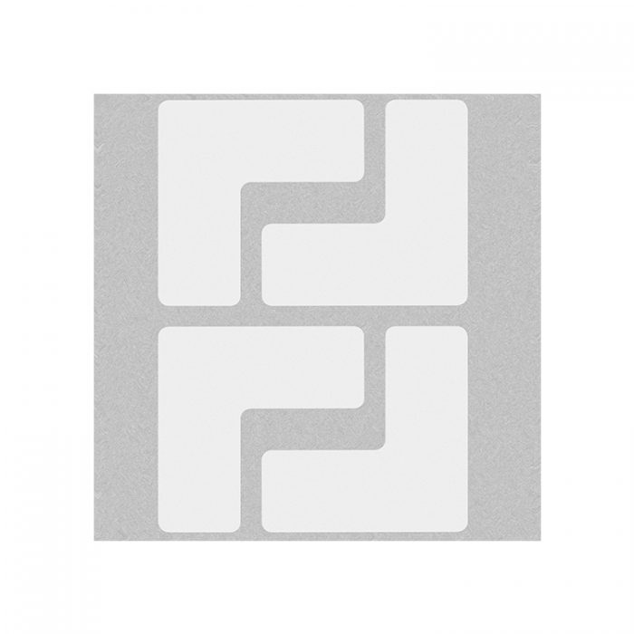 Gulvmerking : Toughstripe hjørnemerke L hvit 104435 : Bsafe Systems AS