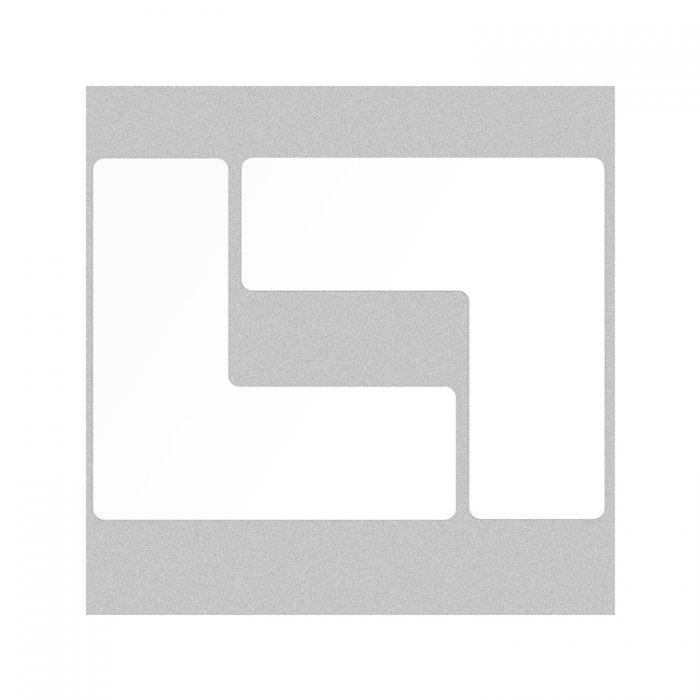 Gulvmerking : Toughstripe hjørnemerke L hvit 104447 : Bsafe Systems AS