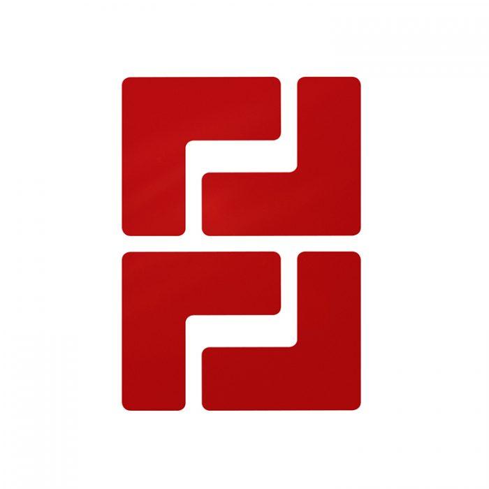 Gulvmerking : Toughstripe hjørnemerke L rød 104430 : Bsafe Systems AS