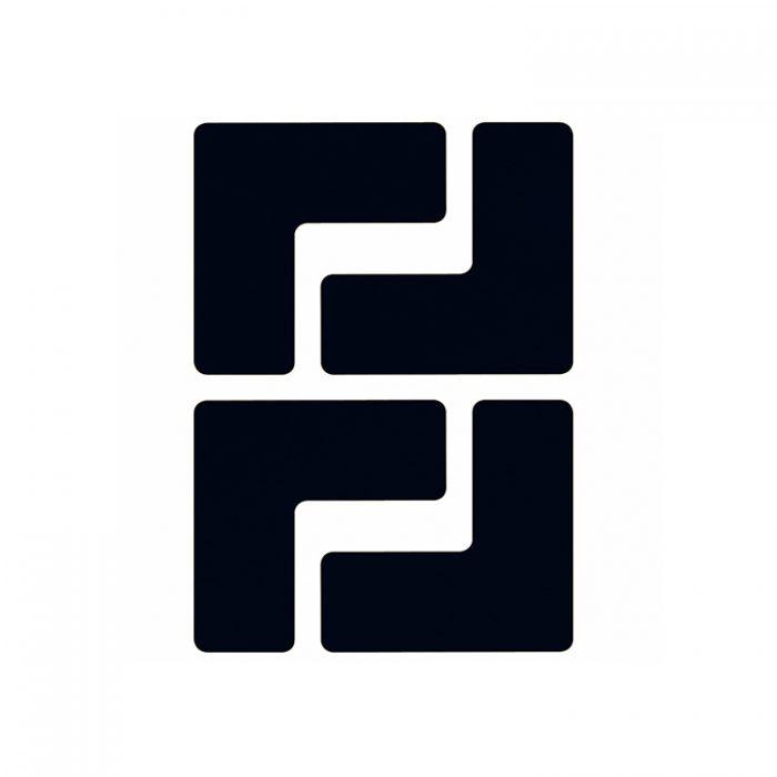 Gulvmerking : Toughstripe hjørnemerke L sort 104434 : Bsafe Systems AS
