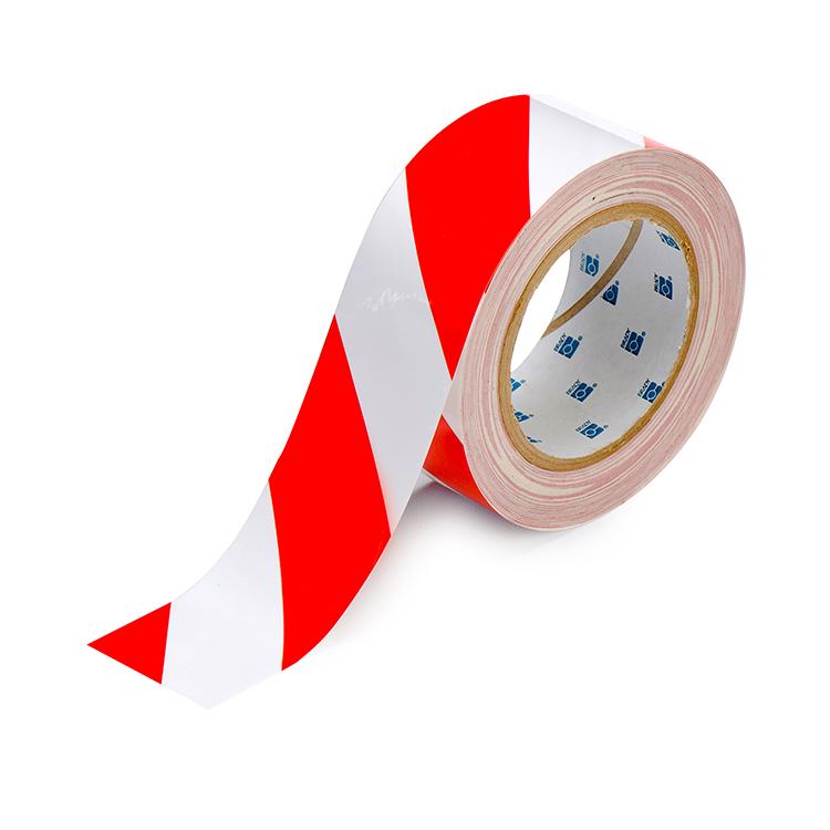 Toughstripe gulvtape rød/hvit : Bsafe Systems AS