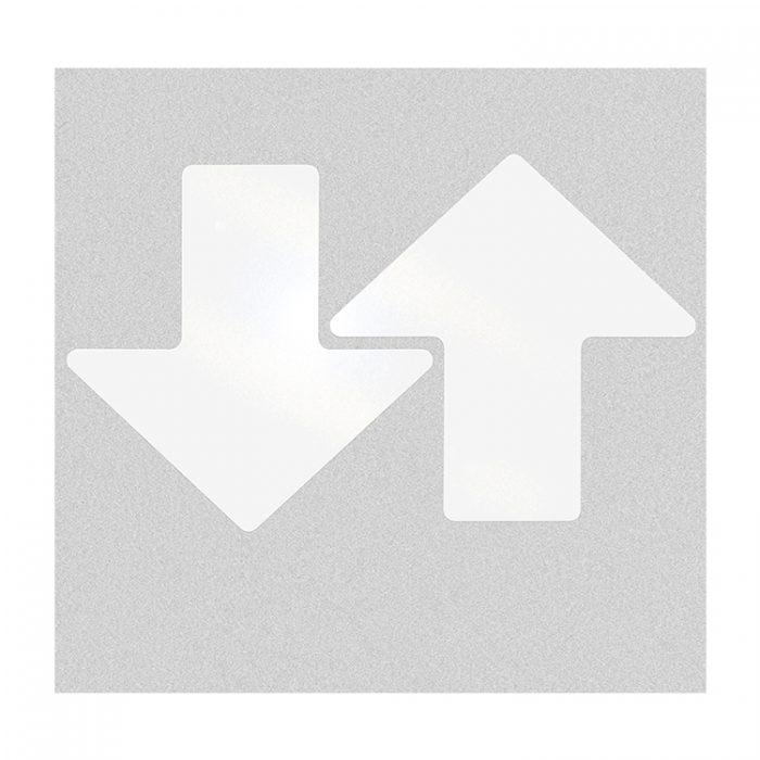 Gulvmerking : Toughstripe pil hvit 203mm 104423 : Bsafe Systems AS