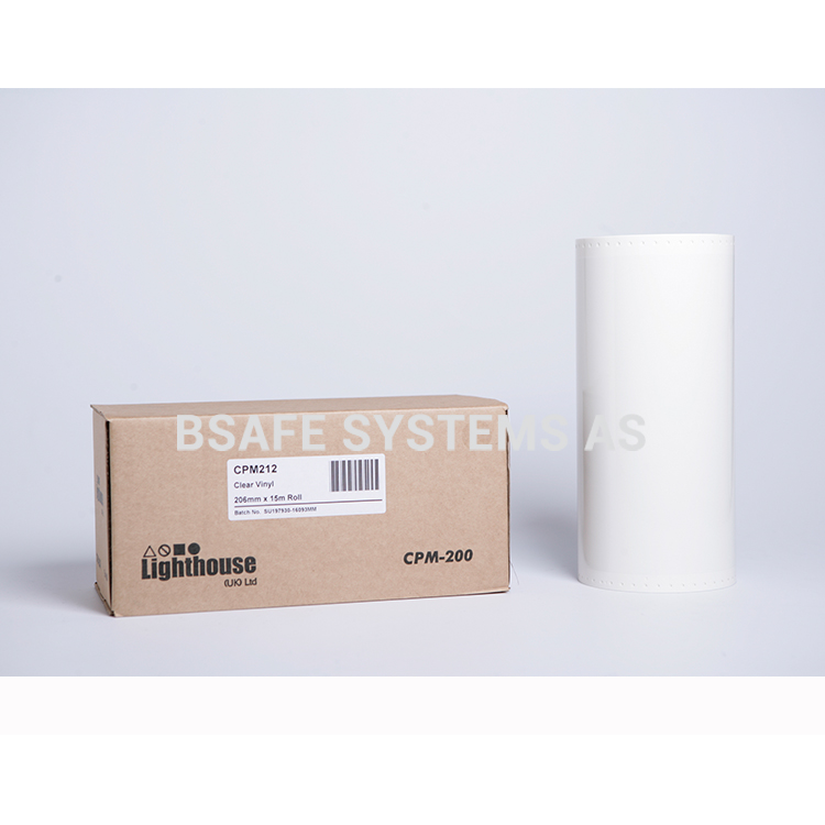 Vinylfolie CPM-200 klar : BSafe Systems AS