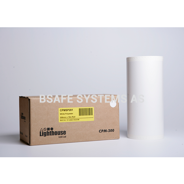 Polyesterfolie CPM-200 Hvit CPMSP201 : Bsafe Systems AS