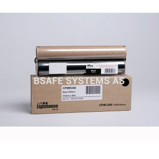 Fargebånd refill CPM-200 standard Sort : Bsafe Systems AS