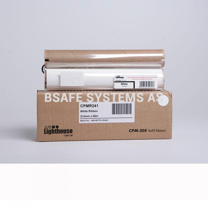 Fargebånd refill CPM-200 standard Hvit : Bsafe Systems AS