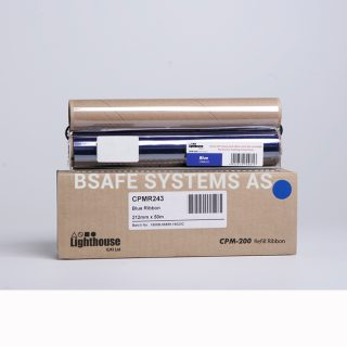 Fargebånd refill CPM-200 standard Blå : Bsafe Systems AS