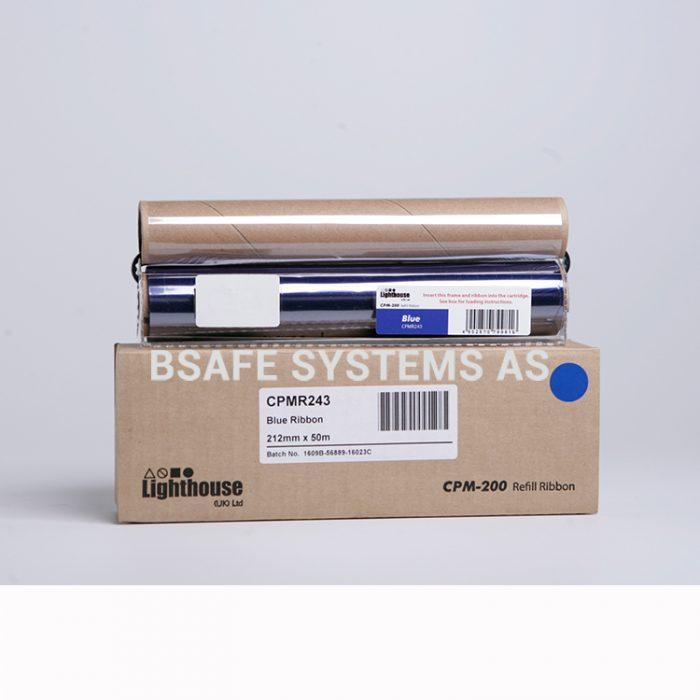 Fargebånd refill CPM-200 standard Blå : Bsafe Systems AS