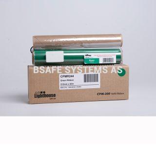 Fargebånd refill CPM-200 standard Grønn : Bsafe Systems AS