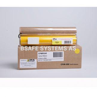 Fargebånd refill CPM-200 standard Gul : Bsafe Systems AS