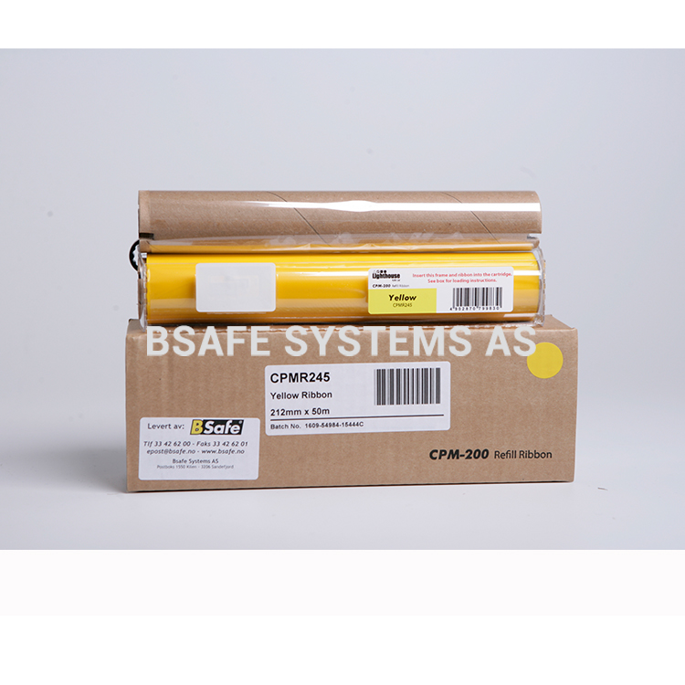 Fargebånd refill CPM-200 standard Gul : Bsafe Systems AS