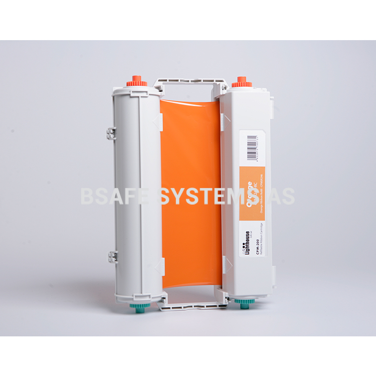 Fargebånd CPM-200 standard Oransje : Bsafe Systems AS