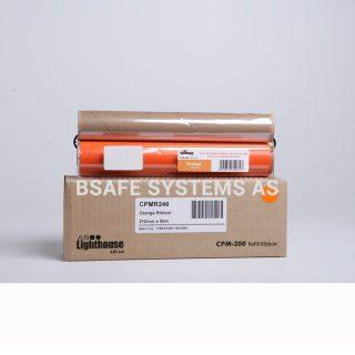Fargebånd refill CPM-200 standard Oransje : Bsafe Systems AS