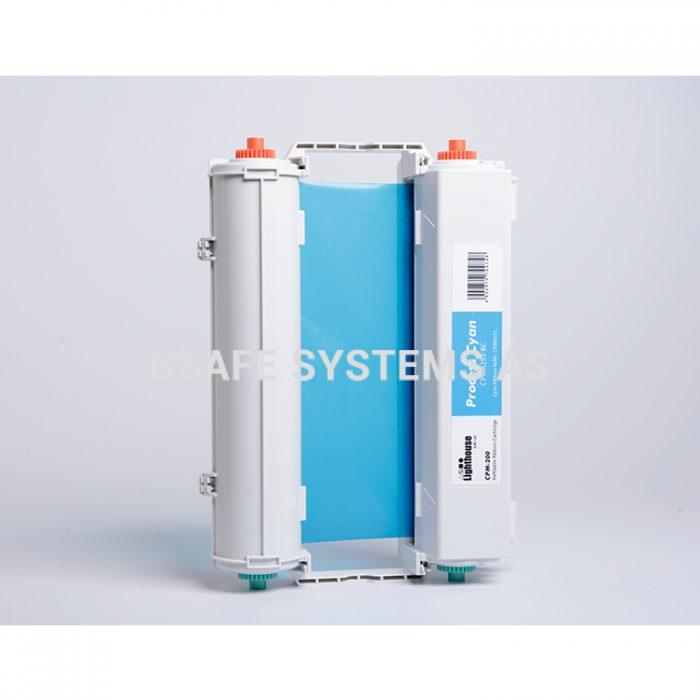Fargebånd CPM-200 standard Cyan CMYK : Bsafe Systems AS