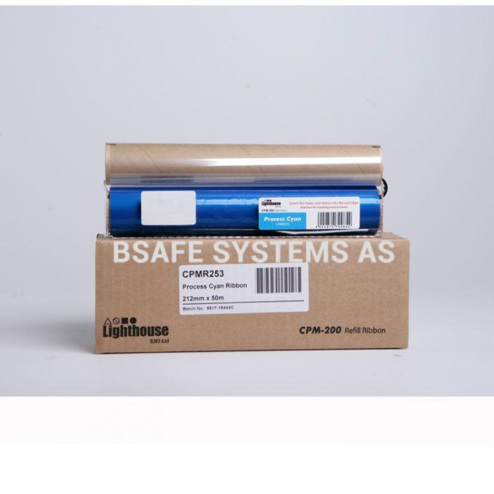 Fargebånd refill CPM-200 standard Cyan CMYK : Bsafe Systems AS