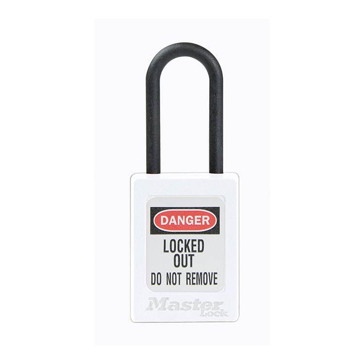 Lockout Hengelås hvit : ikke ledende tynn bøyle : Masterlock 10S32WHT : Bsafe Systems AS