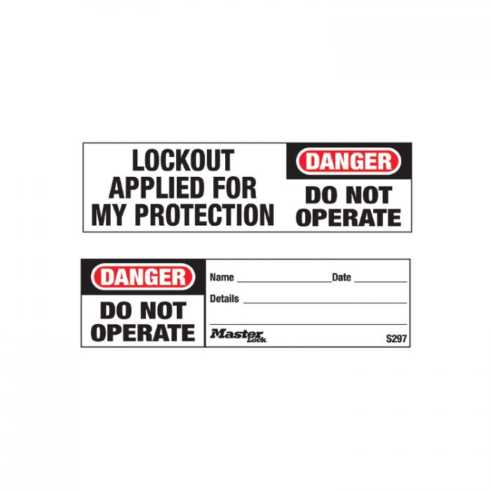 Tags Do not operate : Masterlock 10S297 : Bsafe Systems AS